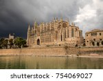 the cathedral of santa maria of ... | Shutterstock . vector #754069027