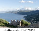 top view of the sicily  italy.... | Shutterstock . vector #754074013