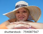 portrait of young woman in...   Shutterstock . vector #754087567