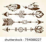 set with graphic vector... | Shutterstock .eps vector #754088227