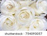 Stock photo wedding white flowers awesome roses white roses fullscreen background 754093057