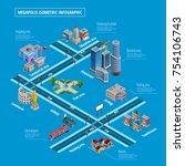 megapolis multilevel... | Shutterstock . vector #754106743
