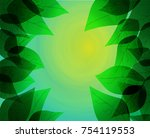 the sun is shining from the... | Shutterstock .eps vector #754119553
