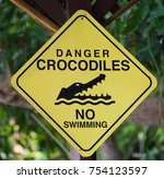 Small photo of Be Careful - Danger - Crocodiles !