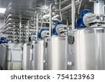 a number of steel tanks for... | Shutterstock . vector #754123963