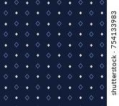 seamless vector pattern  simple ... | Shutterstock .eps vector #754133983