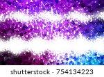 light pink  blue vector blurry... | Shutterstock .eps vector #754134223