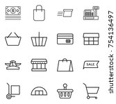 thin line icon set   money ... | Shutterstock .eps vector #754136497