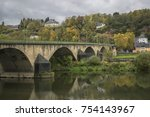 detail of moselle river valley... | Shutterstock . vector #754143967