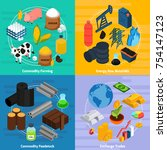 commodity concept icons set... | Shutterstock . vector #754147123
