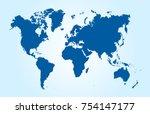 color world map vector | Shutterstock .eps vector #754147177