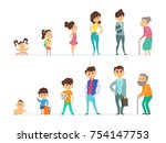 life cycle of male and female.... | Shutterstock .eps vector #754147753