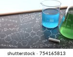 chemistry teaching with drawn... | Shutterstock . vector #754165813