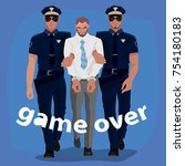 two police officers arrested... | Shutterstock .eps vector #754180183