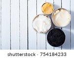 shea  macadamia nut and coffee...   Shutterstock . vector #754184233