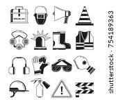 safety work  security symbols.... | Shutterstock .eps vector #754189363
