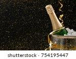 celebrating new year  birthday  ... | Shutterstock . vector #754195447