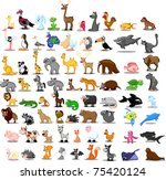 extra large set of animals... | Shutterstock .eps vector #75420124