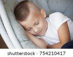portrait of cute little boy in...   Shutterstock . vector #754210417