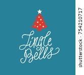 jingle bells hand drawn... | Shutterstock .eps vector #754210717