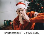 one more picture of a sick man... | Shutterstock . vector #754216687