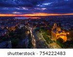 aerial view of varna city... | Shutterstock . vector #754222483