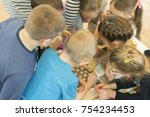 Small photo of group of children decide the task