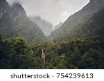 deep in the forest after an... | Shutterstock . vector #754239613