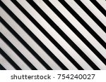 black and white striped... | Shutterstock . vector #754240027