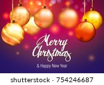 christmas. new year... | Shutterstock .eps vector #754246687