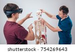 doctor uses augmented reality... | Shutterstock . vector #754269643