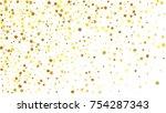 many random falling stars... | Shutterstock .eps vector #754287343