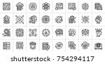 outline icon set of data... | Shutterstock .eps vector #754294117