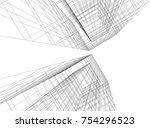 architecture 3d concept | Shutterstock .eps vector #754296523