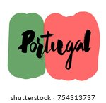 "hand writing ""portugal"" with... 