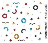 geometric abstract design | Shutterstock .eps vector #754319983