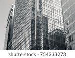commercial building in hong...   Shutterstock . vector #754333273