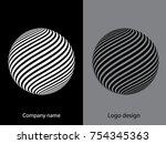 abstract logo design.logo...   Shutterstock .eps vector #754345363