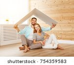 concept housing a young family. ... | Shutterstock . vector #754359583