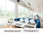 abstract blur restaurant and... | Shutterstock . vector #754366417