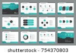 page layout design with info... | Shutterstock .eps vector #754370803
