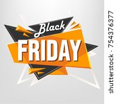 abstract black friday background   Shutterstock .eps vector #754376377