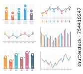 bar graph and line graph... | Shutterstock .eps vector #754410247