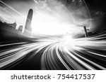 abstract motion speed... | Shutterstock . vector #754417537
