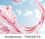 elegant chiffon background ... | Shutterstock .eps vector #754418713