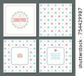 christmas greeting card vector...   Shutterstock .eps vector #754429987