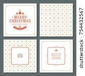 christmas greeting card vector...   Shutterstock .eps vector #754432567