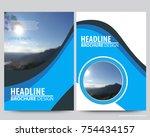 abstract vector modern flyers...   Shutterstock .eps vector #754434157
