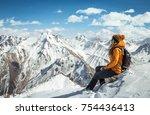 amazing view to surrounding... | Shutterstock . vector #754436413
