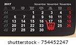 black friday shopping trolley...   Shutterstock .eps vector #754452247